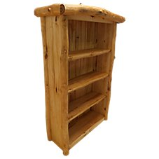 Mountain Woods Furniture Grizzly Three-Shelf Bookcase