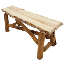 Mountain Woods Furniture Grizzly Wood Bench