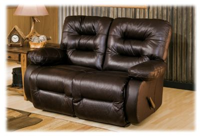 Best Home Furnishings Maddox Furniture Collection Reclining Love Seat - Chocolate