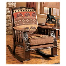 Modern of Marshfield Pine Cone Lodge Rocker