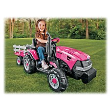 Peg-Perego CASE IH Magnum Tractor/Trailer Ride-On Toy for Kids