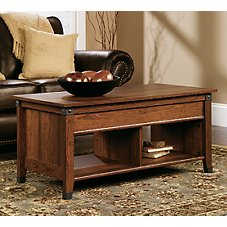 Sauder Woodworking Carson Forge Lift-Top Coffee Table