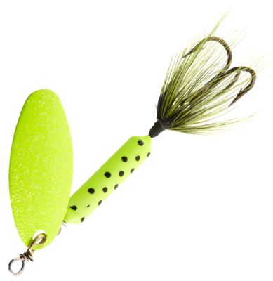 Worden's Original Rooster Tail – 1/4 oz. – Chartreuse Dot