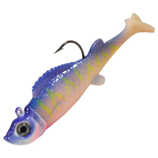 Northland Fishing Tackle Mimic Minnow UV Jig - 2-1/8' - Purple Tiger