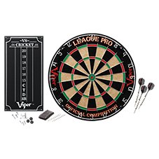 GLD Products Viper League Pro Sisal Dartboard Starter Kit