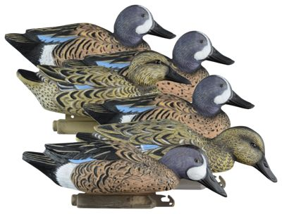 Higdon Outdoors Standard Foam-Filled Blue-Winged Teal Duck Decoys