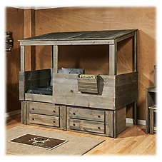 Chelsea Home Furniture Driftwood Hideout Twin Loft with Storage