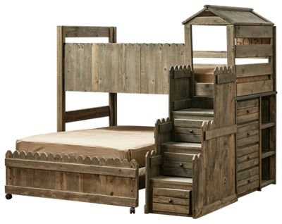 Chelsea Home Furniture Fort Loft Bedroom Set With Stairway Bass