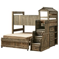 Chelsea Home Furniture Fort Loft Bedroom Set with Stairway