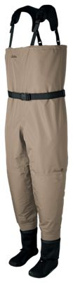 Cabela's Premium Breathable Stocking-Foot Fishing Waders for Men – Tan – Medium Stout