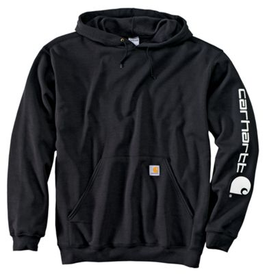 Carhartt Midweight Hooded Logo Sweatshirt For Men Black Xlt