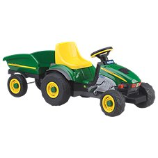 Peg-Perego John Deere Farm Tractor and Trailer Pedal Ride-On Toy for Kids