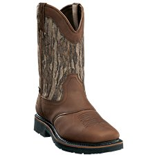 Cabela's Pinedale Camo Waterproof Square-Toe Western Work Boots for Men Image