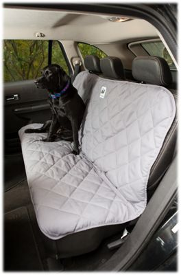 3 Dog Pet Supply Quilted Back Seat Protector Grey
