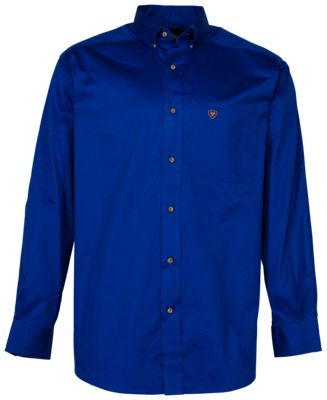 Rods Mens Solid Twill Shirt