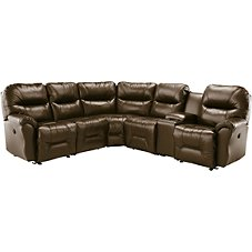 Best Home Furnishings Bodie Five-Seat Leather Sectional