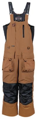 StrikerIce Climate Series Bib System for Men - Brown/Camo - S