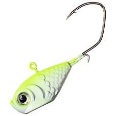 """100-1//16JIG HEAD NO COLLAR OR BARB  PRO V/""""  #1//0 RED  SICKLE HOOK"""