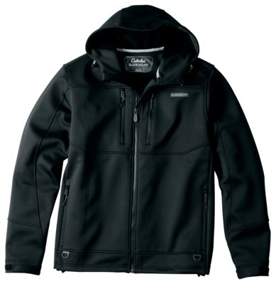 Cabela's Guidewear Layering Jacket with 4MOST REPEL and 4MOST WINDSHEAR for Men – Jet Black – 3XL