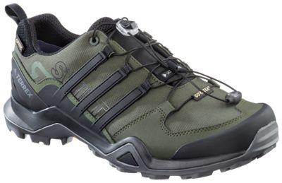 167e0f1a4 adidas Outdoor Terrex Swift R2 GTX Hiking Shoes for Men - Night Black Green