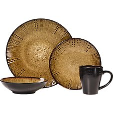 Lifetime Brands Linden 16-Piece Dinnerware Set