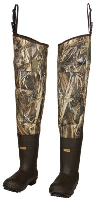 Cabela's 5mm Armor-Flex Lug Sole Hip Waders for Men - TrueTimber DRT - 8M thumbnail