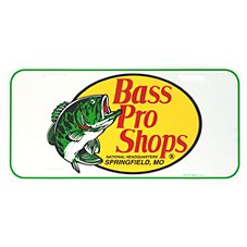 Bass Pro Shops License Plate Cover