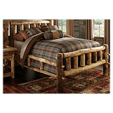 Mountain Woods Furniture Log Bed