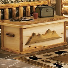 Mountain Woods Furniture Log Cedar Chest