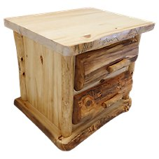 Mountain Woods Furniture Log 2-Drawer Nightstand