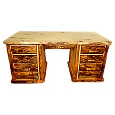 Mountain Woods Furniture 7-Drawer Desk