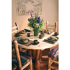 Mountain Woods Furniture Stumpbase Round Dining Set