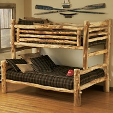 Mountain Woods Furniture Full Over Full Log Bunk Bed