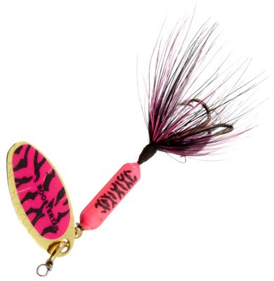 Worden's Original Rooster Tail – 1/8 oz. – Pink/Black Tiger