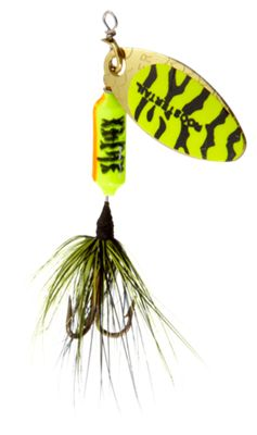 Worden's Original Rooster Tail – 1/16 oz. – Chartreuse/Blue Tiger