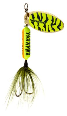 Worden's Original Rooster Tail – 1/6 oz. – Chartreuse/Blue Tiger