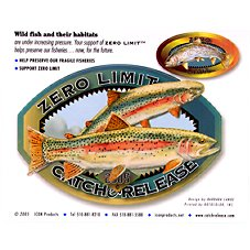 Bass Pro Shops Zero Limit Catch and Release Decal - Trout