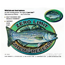 Bass Pro Shops Zero Limit Striped Bass Catch and Release Decal