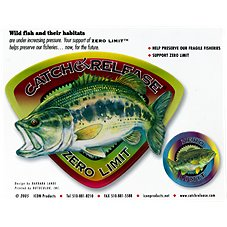 Bass Pro Shops Zero Limit Black Bass Catch and Release Decal