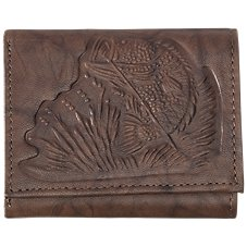 Bass Pro Shops Montana Leather Bass Trifold Wallet