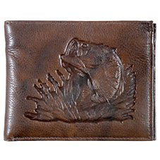 Bass Pro Shops Montana Leather Bass Bifold Wallet