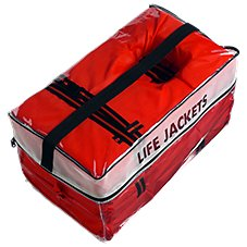 Type II Life Vests with Vinyl Storage Bag