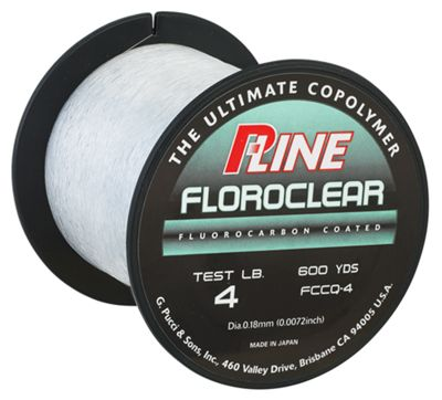 pline clear floroclear fluorocarbon coated line   20lb 600 yd NEW  p line