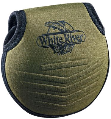 """White River Fly Shop Neoprene Reel Pouch - Olive - 4"""""" thumbnail"