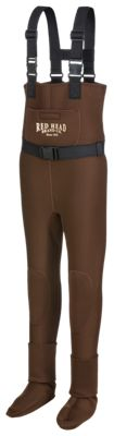 RedHead Bone-Dry Classic Series Neoprene Stocking-Foot Waders for Youth – Large Kids