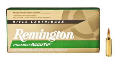 Remington Premier AccuTip Centerfire Rifle Cartridge Ammo – .270 Winchester – 130 Grain