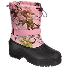 RedHead Snowboard Insulated Pink Camo Pac Boots for Kids