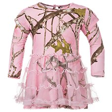 Bass Pro Shops Tulle Pink Camo Dress for Baby Girls