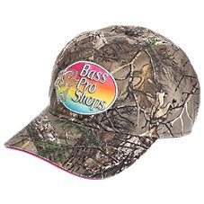 Bass Pro Shops Rainbow Logo Camo Cap for Kids
