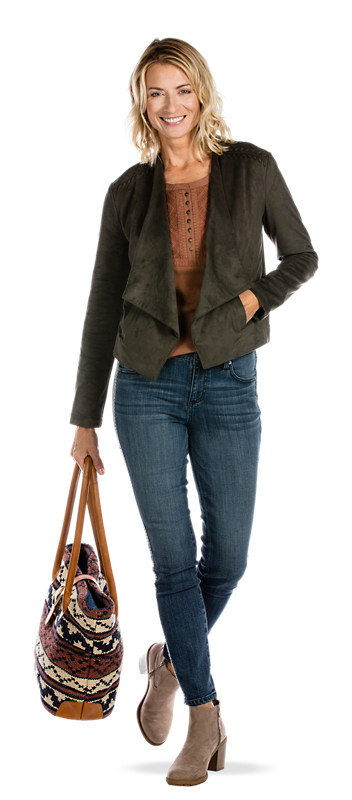 Get the Faux Suede Jacket Look